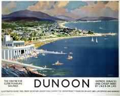 LMS LNER ..DUNOON THE CENTRE FOR EXPRESS SERVICES CLYDE PLEASURE AND CHEAP FARES SAILING BY LN ER OR LMS LLUSTRATED GUIDE FREE FROM SECRETARY, ADVERTISING COMMITTEE IDEPARTMENT PDUNOON.OR LNER AND LMSOFFICES AND AGENCIES.16