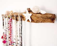 Driftwood jewellery hanger by Driftwood Dreaming. cyrtsal and diamante from Driftwood Dreaming. £35.00 plus p.