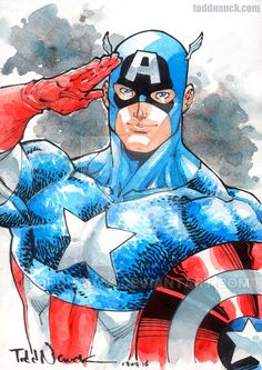 """"""" Captain America - Avengers """" by Malaysia-based Johnson Ting Captain America Fan Art Gallery It's the Fourth of July here in the. Captain America Comic, Captain America Images, Marvel Dc, Marvel Comics, Marvel Heroes, Jack Kirby, Steve Rogers, Comic Books Art, Comic Art"""