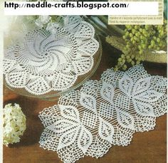 crochet doilies + diagrams