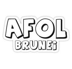 """""""AFOL Brunei by Customize My Minifig"""" Stickers by ChilleeW   Redbubble"""