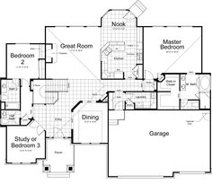 rambler house plans | Traditional Rambler Home (HWBDO59068 ...