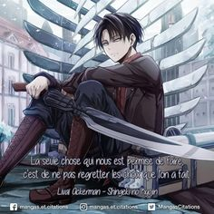 Levi attack on titan Manga Anime, Anime Boys, Hot Anime, Image Citation, Otaku, Titans Anime, Aesthetic Japan, Manga Quotes, Attack On Titan Levi