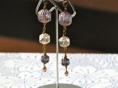 BlueLavender Dangles by KimberlysCraftini on Etsy, $20.00