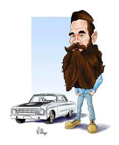Ford Falcon, Aaron Kaufman, Richard Rawlings, Car Guru, Fast And Loud, Counting Cars, Gas Monkey Garage, Beard Humor, Car Drawings
