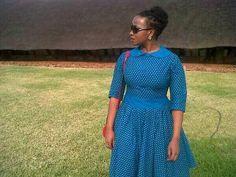 Lovely Blue and White Shweshwe dresses for 2019 - fashionist now