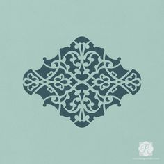 Decorating Crafts and DIY Projects with Intricate Moroccan Pattern - Alhambra Ornament Craft Stencils - Royal Design Studio
