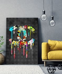 tableau-street-art-pop-art-chanel-logo-04 Tableau Logo, Tableau Pop Art, Logo Chanel, Street Art, Art Pop, Decoration, Artwork, Toile, Bricolage