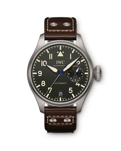 IWC Schaffhausen Big Pilot's Heritage Watch Iwc Watches, Cool Watches, Watches For Men, Stylish Watches, Sport Watches, Breitling, International Watch Company, Iwc Pilot, Swiss Army Watches
