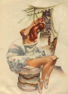 Pin Up Girls with the mirror held by knees :-)