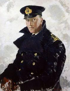 Lieutenant Grahame Johnstone, D.S.C., R.N.V.R. (d.1946) 1940 (oil on canvas) by Doris Zinkeisen (Scottish 1898 – 1991)