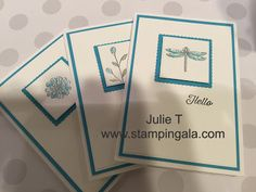 Julie T - stampingala.com, note card gift card set, great hostess gift, Stampin Up's Touches of Texture