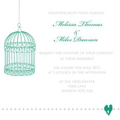 Exotic #Emerald #wedding #invitation #Pantone 2013 Color Of The Year by Ananyacards.com