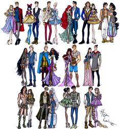 Hayden Williams Fashion Illustrations | 'Disney Darling Couples' collection by Hayden...