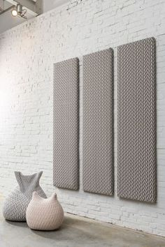 Wool Acoustic wall panel CELLO By Casalis design Aleksandra Gaca Acoustic Fabric, Acoustic Wall Panels, Acustic Panels, Soundproofing Walls, Soundproof Panels, Inspiration Wand, Sound Room, Canopy Design, Sound Proofing
