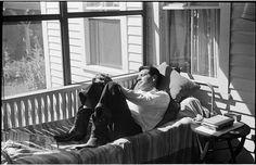 Leonard Bernstein [Leonard Bernstein laying in bed.]