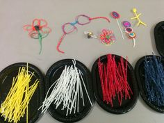Wikki Stix were the perfect combination with our Play with Galimotos station.  Kids coyld bend and twist and create whatever they liked.