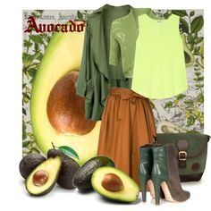 Avocado by geewhizart on Polyvore featuring WearAll, Splendid, Tome, Malone Souliers and Michel Design Works