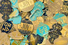 Holiday Punch Gift Tags on Behance
