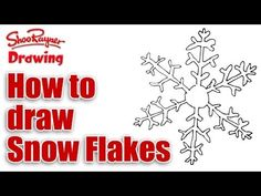 How to draw a snowflake easily