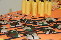 Just Deanna: Aim and Shoot Nerf Party - DIY ammo pouches Camo Birthday Party, Camo Party, Nerf Party, 9th Birthday Parties, 10th Birthday, Camouflage Party, Military Party, Holidays And Events, Party Planning