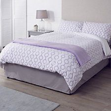 805604 - Cozee Home Reversible Geometric Fleece Duvet Set with Deep Fitted Sheet QVC Price: £48.00 - £75.00  Event Price: £42.00 - £66.00  P&P: £3.95  or 2 Easy Pays of £21.00-£33.00  +P&P in 5 colour options A contemporary four-piece bedding set including a duvet cover, one fitted sheet and two pillowcases constructed from cosy easy-care fleece and boasting a stylish geometric pattern with a solid reverse.