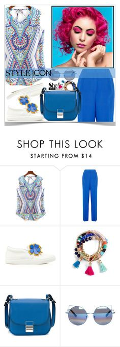 """SheIn Blue Style ♥"" by av-anul ❤ liked on Polyvore featuring Jil Sander, Lanvin, BaubleBar, Proenza Schouler, Linda Farrow, shein and avanul"