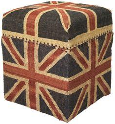 Stool Box Union Jack Vintage by #KAREDesign