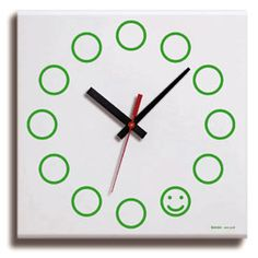 'happy hour' canvas wall clock designed by jeffrey bernett for benza design