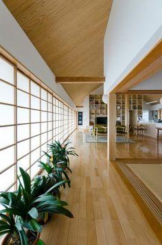80s Interior Design, Scandinavian Interior Design, Exterior Design, Japanese Style House, Japanese Interior Design, Dream Home Design, Home Design Plans, Japan House Design, Japanese Living Room Decor