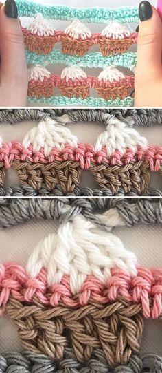 Learn Crocheting The Cupcake Stitch | CrochetBeja