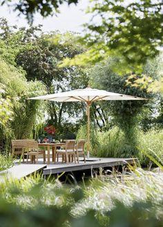 """Sonnenschirm """"Umbria"""" von Garpa Pergola, Gazebo, Food Cart Design, Outdoor Spaces, Outdoor Decor, Make Time, Online Furniture, Garden Furniture, Outdoor Structures"""