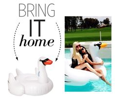 """Bring It Home: Sunnylife Giant Inflatable Swan"" by polyvore-editorial ❤ liked on Polyvore featuring interior, interiors, interior design, home, home decor, interior decorating, Sunnylife and bringithome"