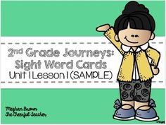 All of the words included in this pack come straight from the second grade Journeys Curriculum. The cards in this pack are from Lesson 1. This is just a sample. If you like this pack then you can purchase the full unit 1 at the link below.https://www.teacherspayteachers.com/Product/Journeys-2nd-Grade-Sight-Word-Cards-Unit-1-1881557The cards are meant to be used for your classroom word wall or a portable word wall on a ring.