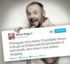 Simon Pegg. Seriously love him.