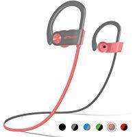 c7b5c34a660 LETSCOM Bluetooth Headphones IPX7 Waterproof Wireless Sport Earphones  Bluetooth 4.1 HiFi Bass Stereo Sweatproof Earbuds w · Noise Cancelling ...