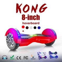 2 wheel hoverboard with Colored lights scooter 8 inch bluetooth self balancing scooter smart electric hoverboard free shipping