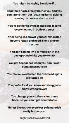 You might be a highly sensitive person if you experience any one of these things. Hsp's have unique challenges and advantages. I am a spiritual coach who works primarily with people who have highly sensitive nervous systems. Highly Sensitive Person, Sensitive People, Sensitive Quotes, Human Body Unit, Spiritual Coach, Infj Personality, I Want To Know, Feeling Overwhelmed, Emotional Intelligence