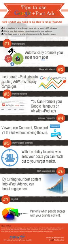 Tips to Use Google+ Post Ads Infographic