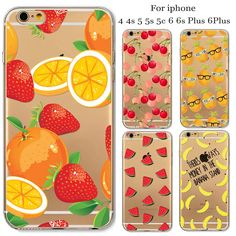 Case For Apple iPhone 6 6s Plus 6Plus 4 4S 5 5s SE 5C Soft Silicon TPU Transparent Fruit Pineapple Watermelon Cherry Thin Cover #clothing,#shoes,#jewelry,#women,#men,#hats,#watches,#belts,#fashion,#style