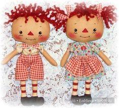 Улыбающиеся мягкие куколки. Rag dolls от ohsewdollin
