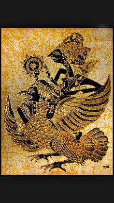 Indonesian Wayang Kulit depicted here in batik
