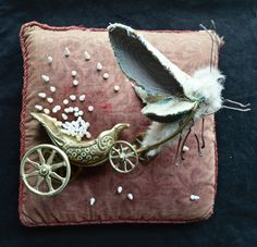 Scraps of thread, fabric and paper are stitched and pulled into fairytale creatures looking for new owners and worlds to inhabit. They hide in the woo...