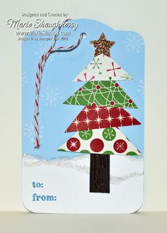 Stamping Inspiration: 25 DAYS OF CHRISTMAS, DAY #22: Two Tags Die Gift Tags...