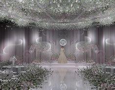 yangxu lin on Behance Wedding Stage Decorations, Wedding Backdrop Design, Wedding Stage Design, Wedding Reception Backdrop, Wedding Mandap, Backdrop Decorations, Wedding Ceremony, Wedding Scene, Indoor Wedding Ceremonies