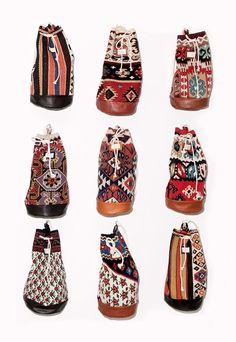 Carpet bags..