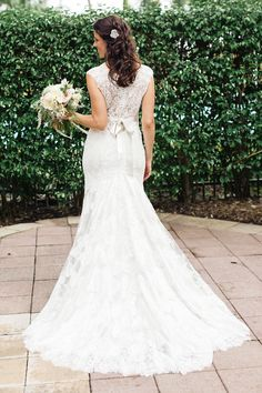 bride in a classic lace gown by Allure / photo by elainepalladino.com