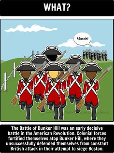 American Revolution - Battle of Bunker Hill Spider Map:  By defining and explaining the five Ws of the battle, students will be able to analyze key strategies, figures, and effects of the battle for both the British and American colonists. Additionally, this will also expose students to key figures for both forces and what their roles were in the early years of the revolution.
