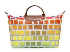 Le Pliage \u0026quot;Keyboard\u0026quot; - Collaboration with Jeremy Scott. Front view. Longchamp Collection