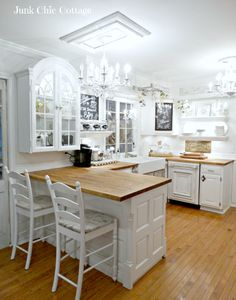 Junk Chic Cottage::DIY Cottage Kitchen Reveal !